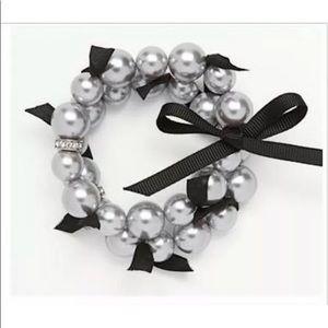 NWT Ann Taylor Pearl Rondelle Stretch Bracelet